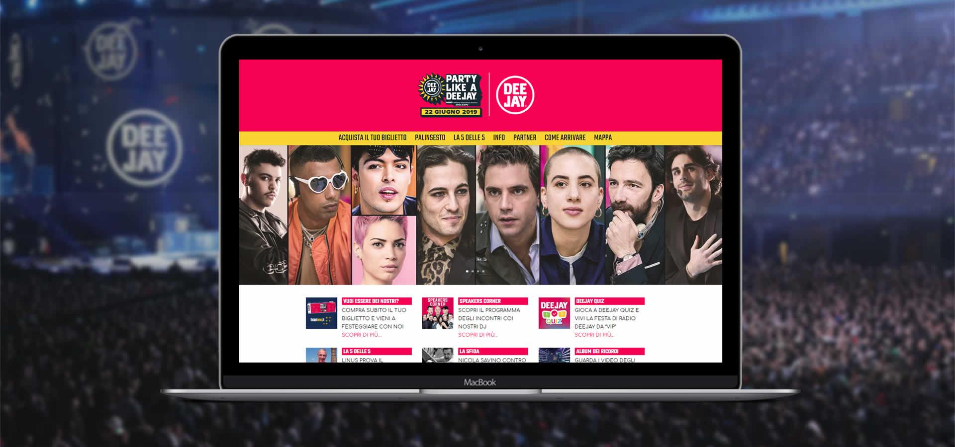 Realizzazione siti internet Festa Radio Deejay