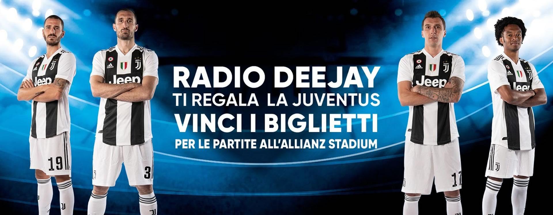 Concorso online Radio Deejay Juventus official radio