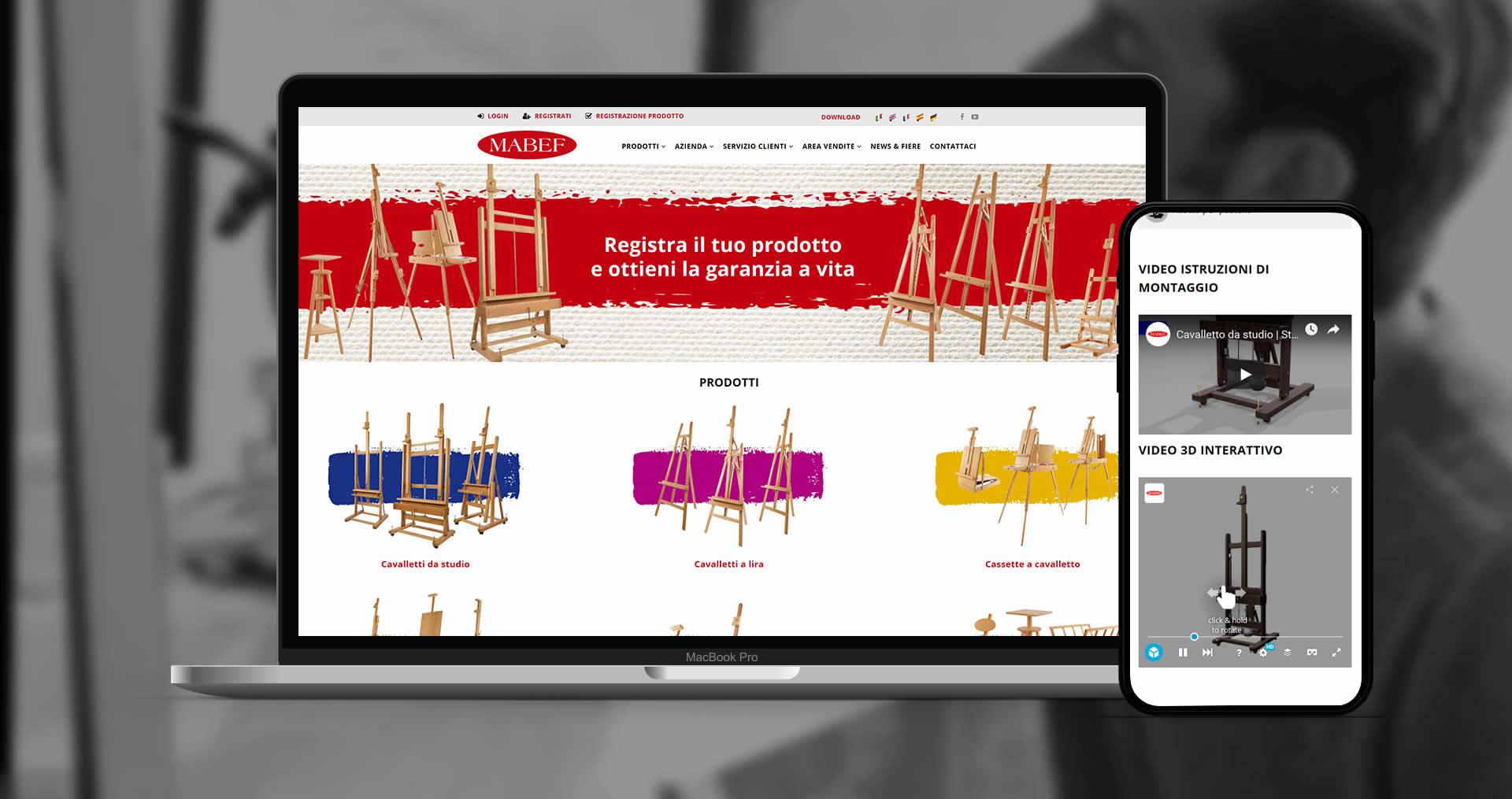 MABEF sito responsive digital transformation