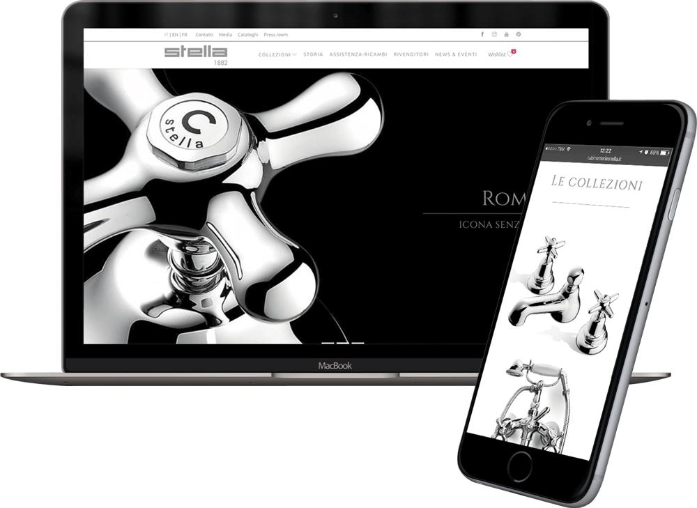Sito web ecommerce Rubinetterie Stella integrazione erp aziendale