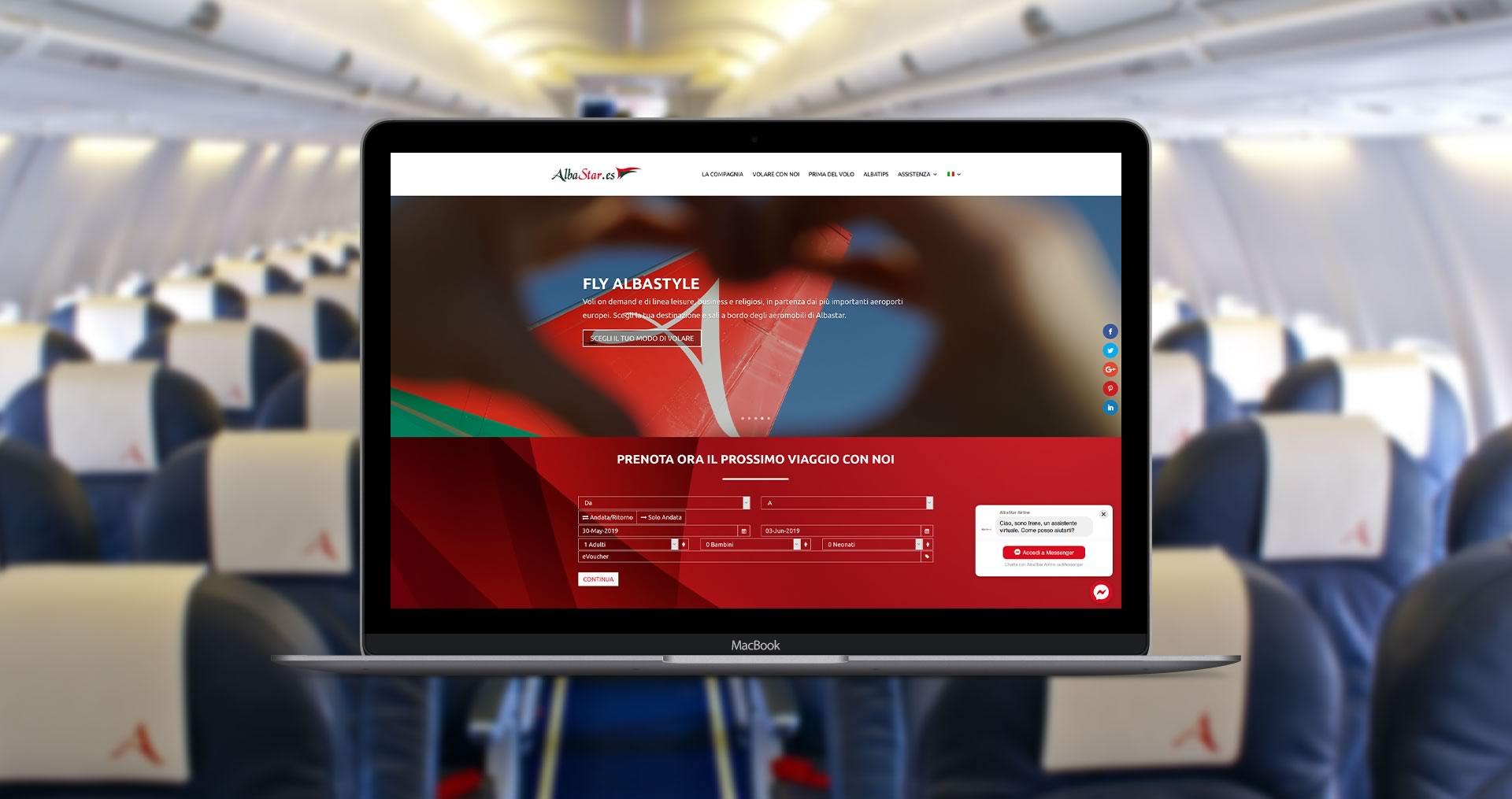 Content marketing social marketing compagnia aerea Albastar