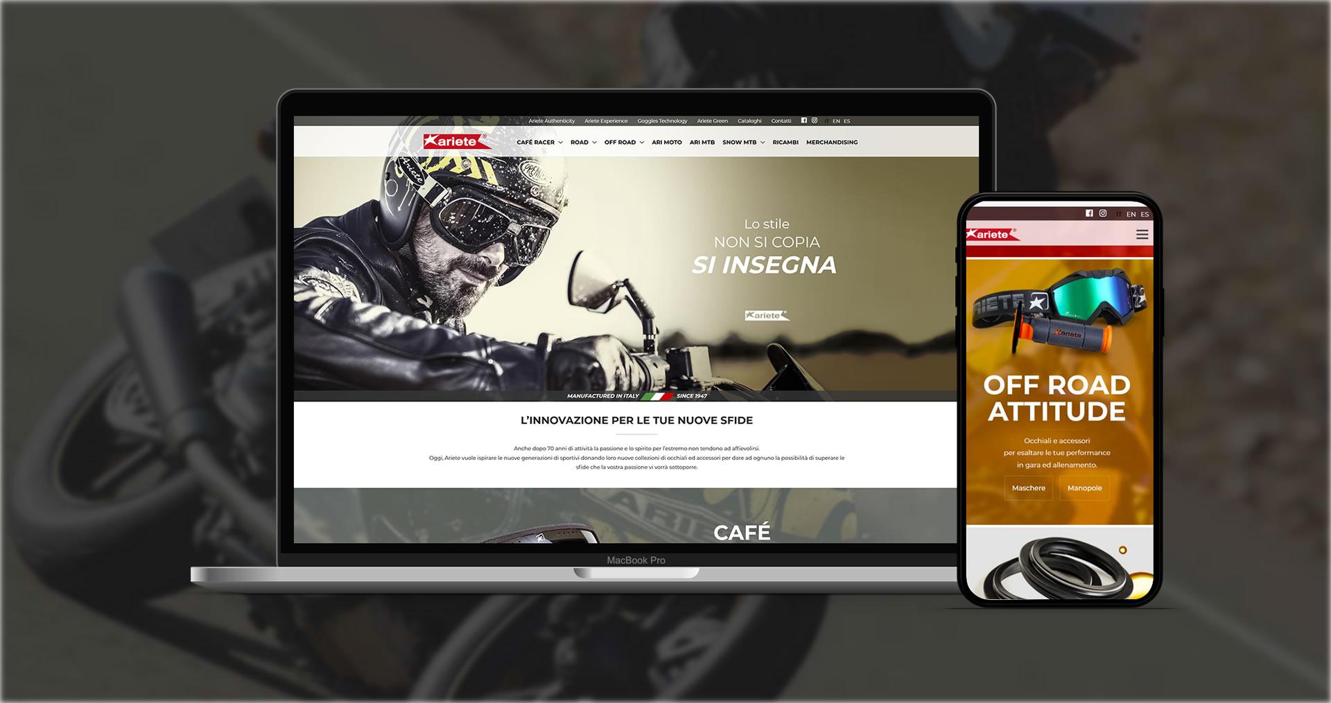 User experience sito web responsive Ariete