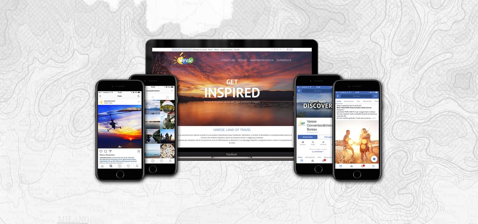 Inbound marketing user experience sito web Varese Turismo